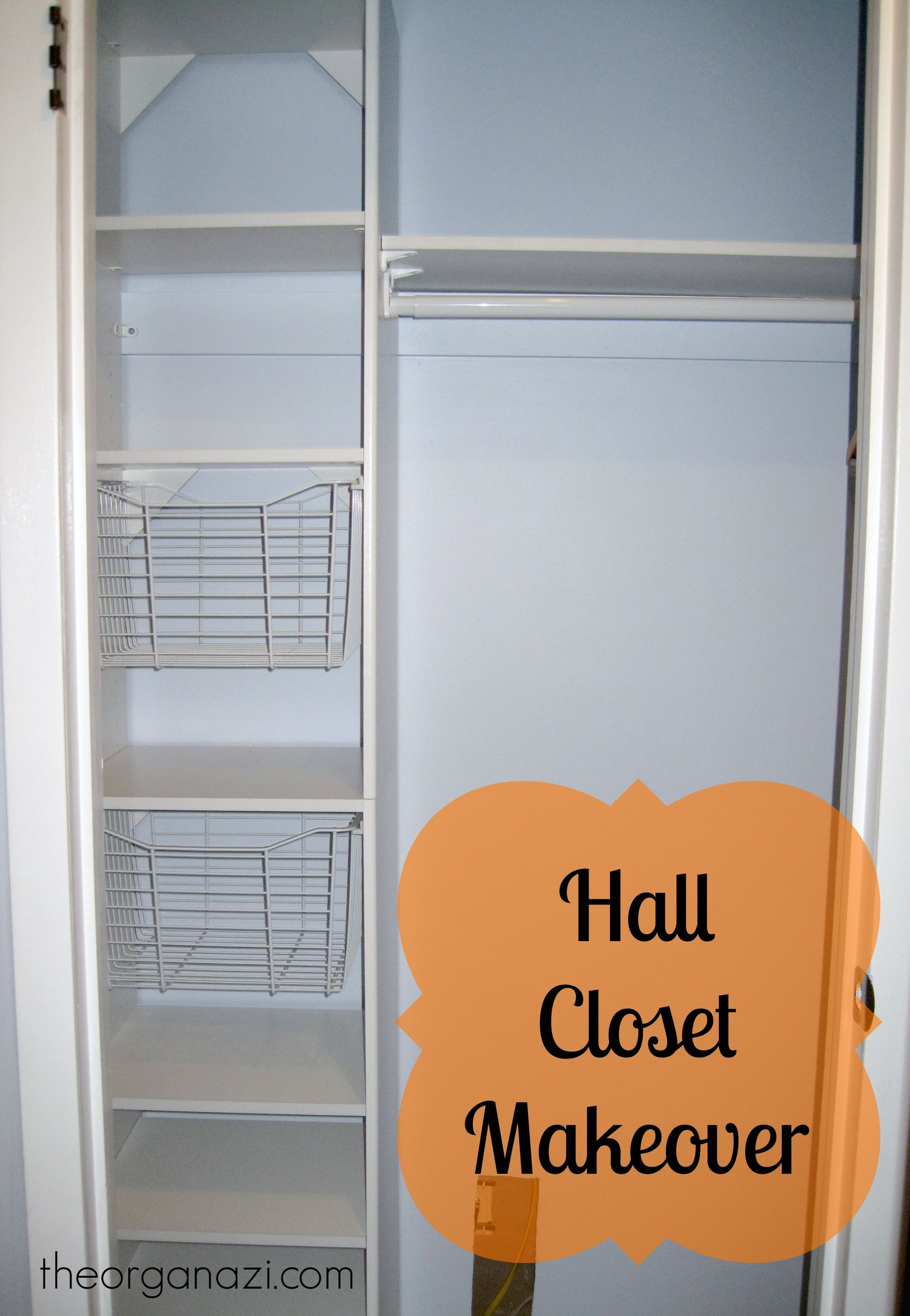 Hall Closet Organization Ideas Part - 19: My Hall Closet Makeover, Including A Fresh New Paint Job, A Closet Organizer  With Basket Shelves, Organizers On The Door, And Reorganization Of Contents.