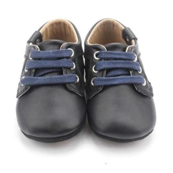 Black Oxford For Babies and Toddlers with Anti-Slip Sole