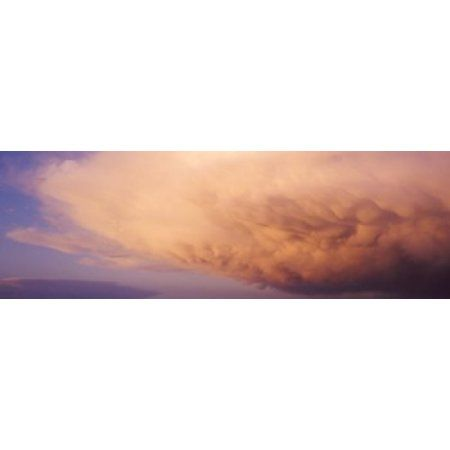 Clouds Canvas Art - Panoramic Images (36 x 12)