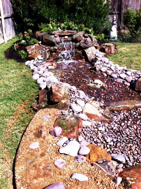 A simple pondless waterfall is a great weekend project for for Waterfall supplies