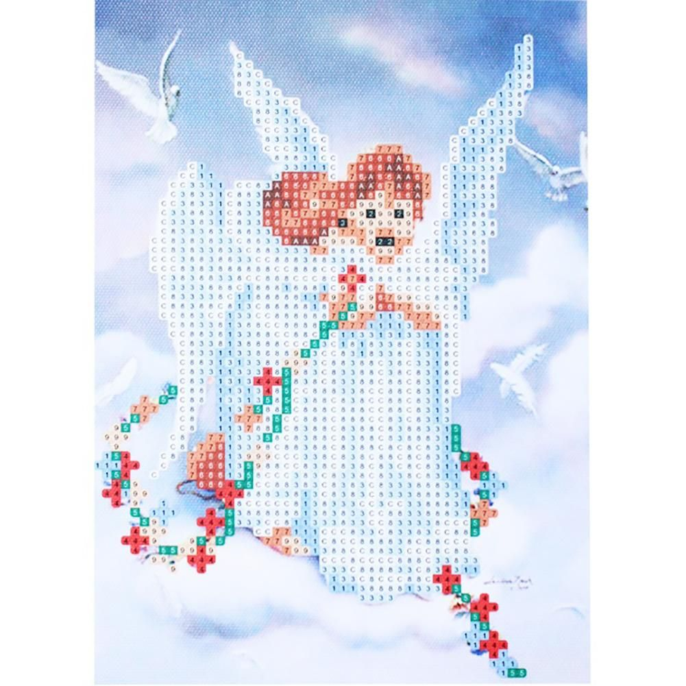 Photo of Cute Angel 5D DIY Diamond Embroidery Painting Cross Stitch Home Wall Decor – as the picture ac