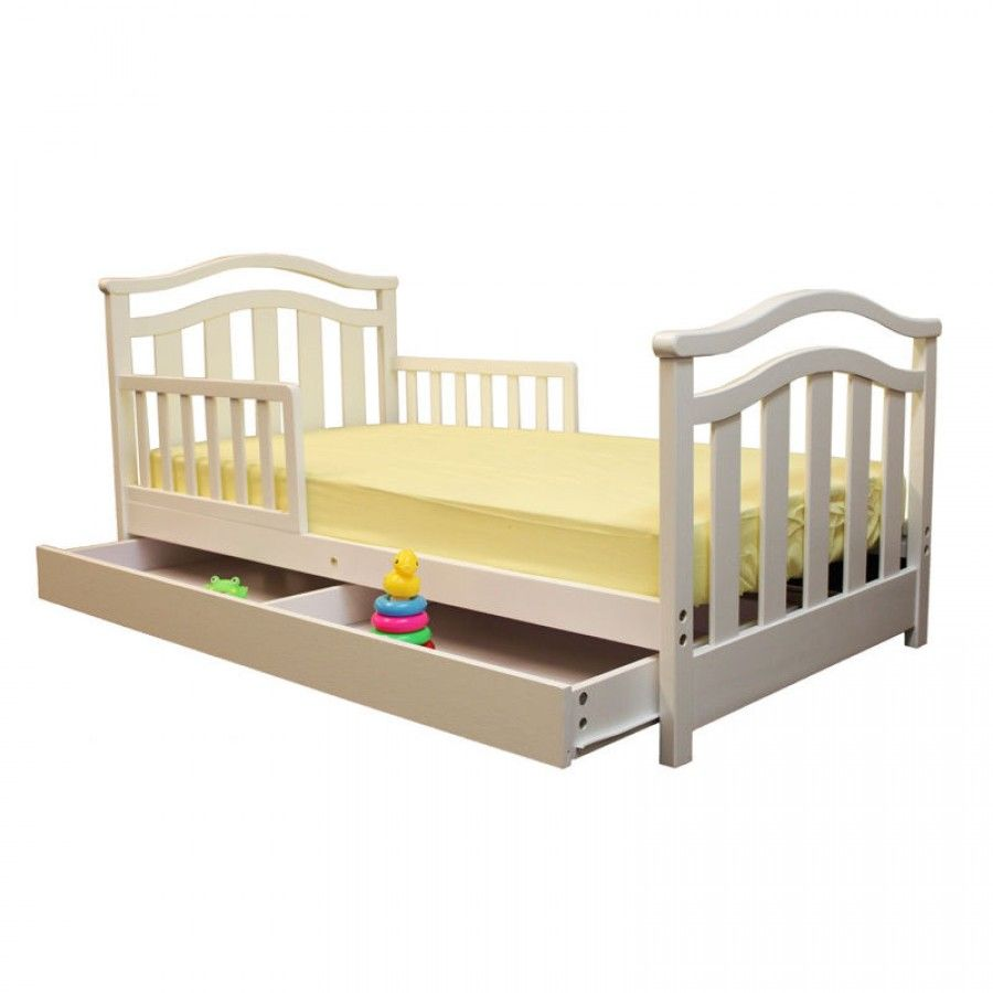 Dream On Me Elora Toddler Bed With Storage Drawer In White 650 W