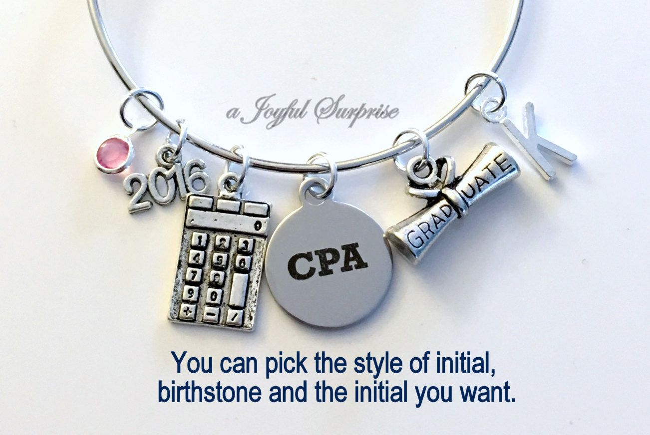 Chartered Accountant Cpa Cpa Graduation Gift Cpa Charm Bracelet Chartered Accountant Grad