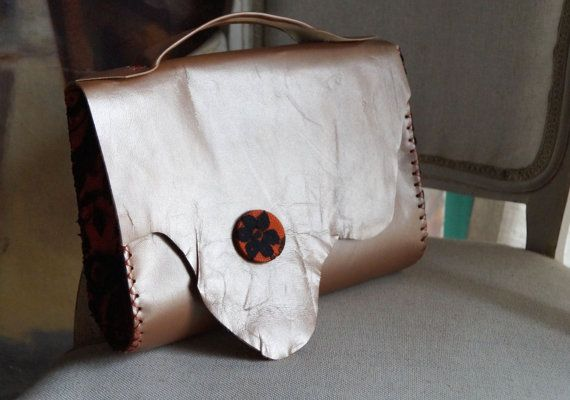 Leather Bag clutch handbag Leather Clutch brown bag by Malikdesign
