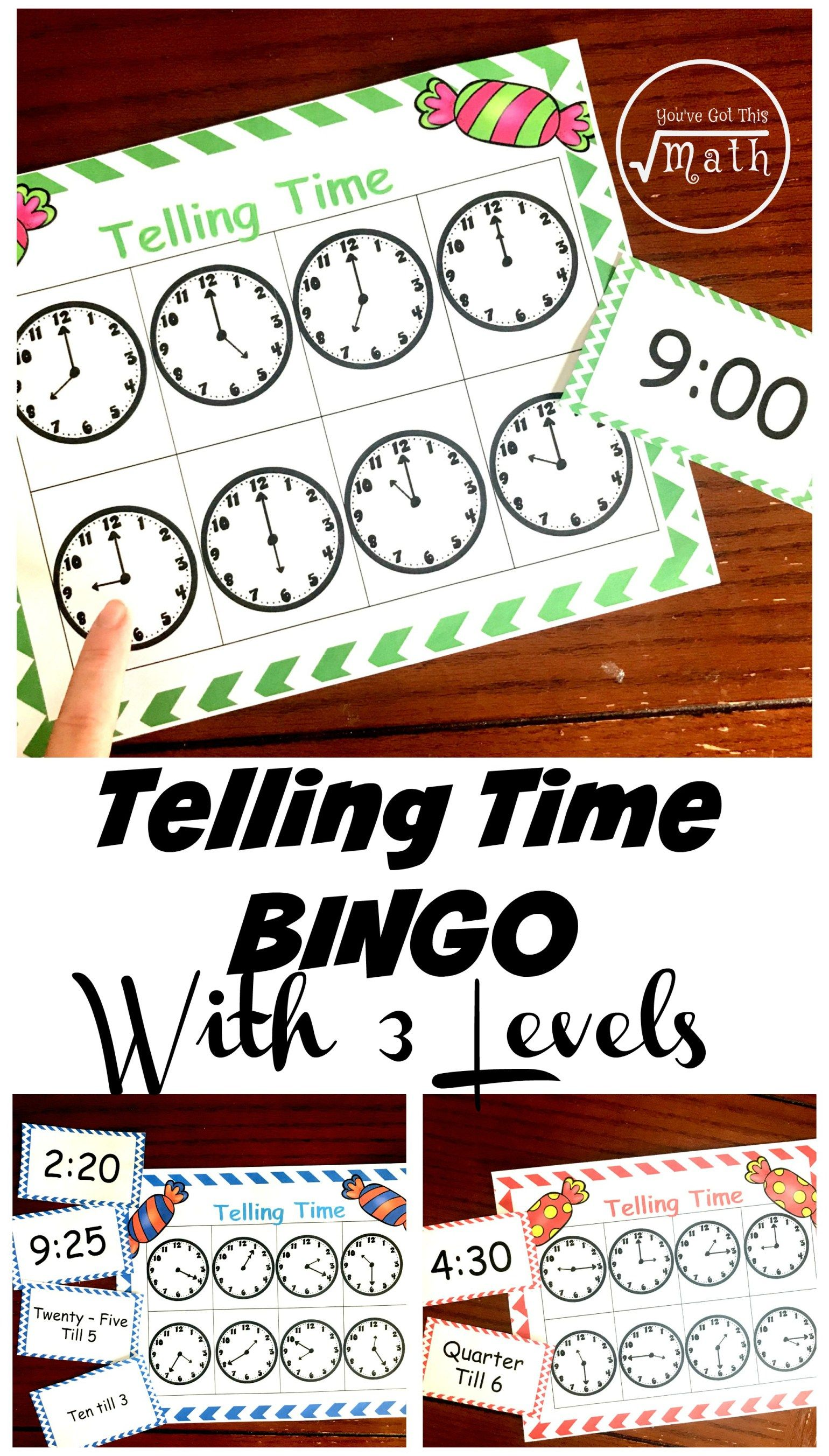 Free Bingo Game To Practice Telling Time For Kids