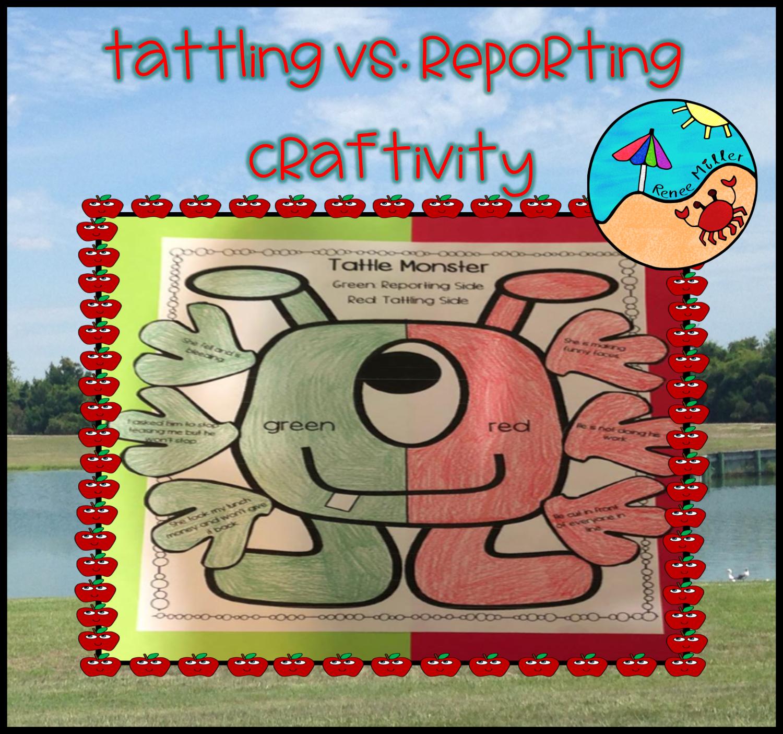 Tattling Vs Reporting Activities Craftivity