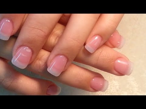 These Are My Natural Nails With Sns Powder In Natural Clear Over Top Super Strong Natural Nails Sns Powder Sns Nails