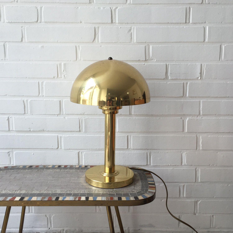 Vintage Lampe Messing Gold Mid Century Selten Wagenfeld Von