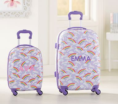 Suitcases Children Kids Holiday Travel Hard Shell Wheel Suitcase Cabin Luggage Trolley Bag Luggage