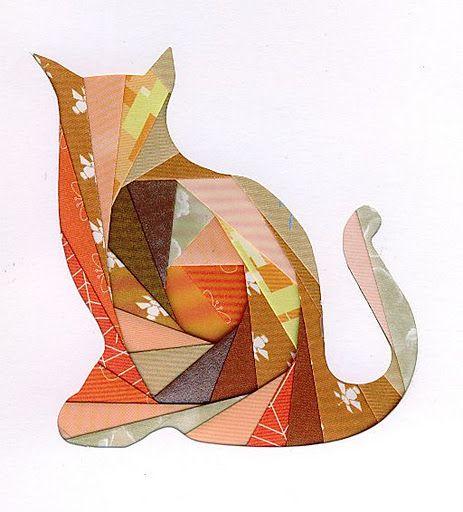 Iris folding cat