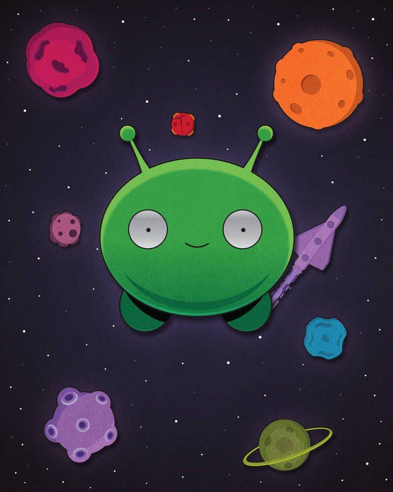 Mooncake Final Space By Https Www Deviantart Com Spongeua On Deviantart Cute Wallpapers Space Painting Finals