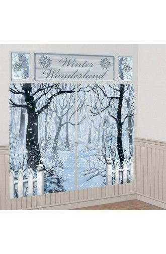Winter Wonderland Scene Setter Wall Decorating Kit -  Christmas & Winter Decorations