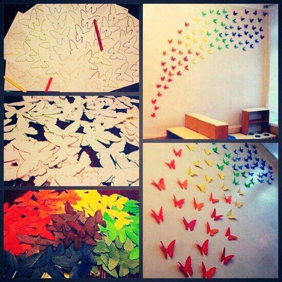 Cool DIY room decor..   Stuff I want to do~ but are too lazy to do ...
