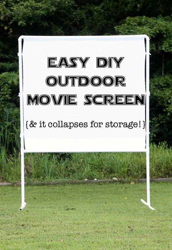 how to make an easy diy outdoor movie screen backyards