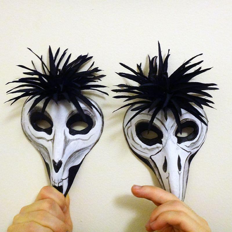 I made some voodoo animal skull headdresses for Halloween  with mohawks!  #Halloweencostume #voodoo #animalskull