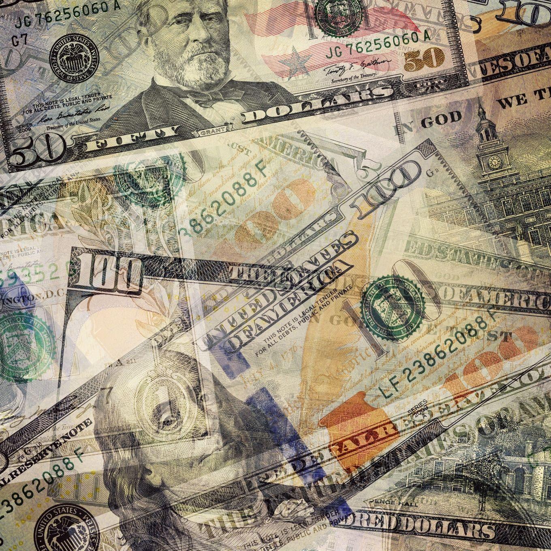 USD dollar bills overlay by Photocreo Michal Bednarek on Creative Market