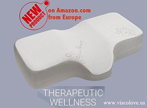 amazoncom celliant sleep therapeutic wellness memory foam pillow by visco love us llc