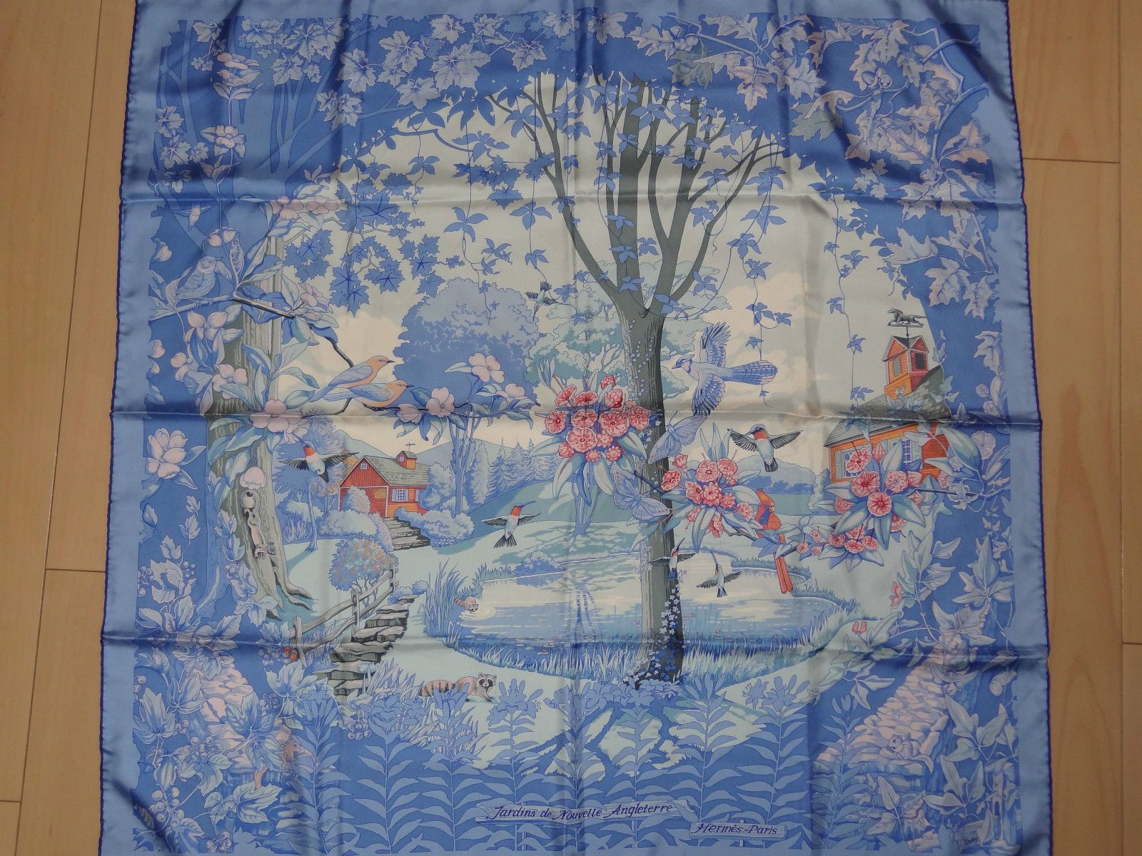 Auth Hermes ' Jardins de Nouvelle Angleterre' Scarf | eBay ...