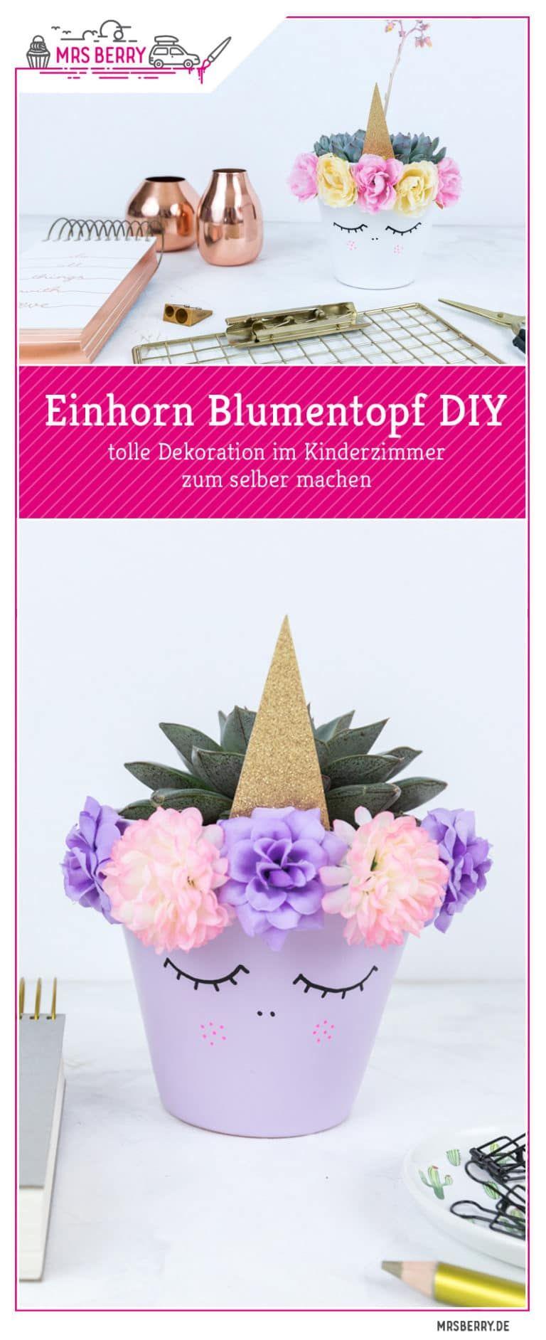 86eff9b4a57740 Einhorn Blumentopf DIY | Geburtstag Emma | Einhorn basteln, Basteln ...