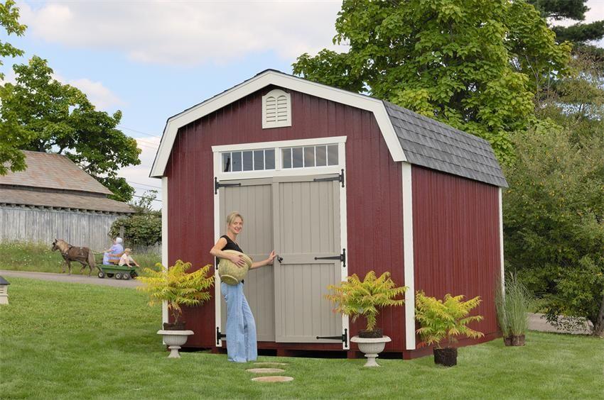 Amish Wood Colonial Woodbury Barn Shed Diy Kit Building 400 x 300