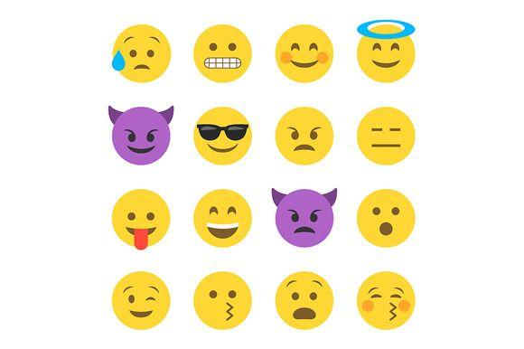 Emoticon Emoji Set Emoji Set Funny Emoticons Funny Emoji