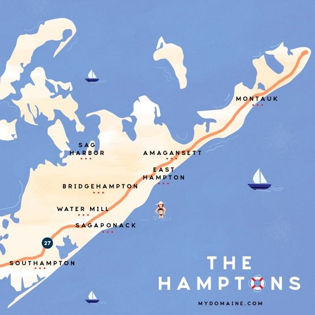 Hamptons New York Map.What The Locals Are Doing In The Hamptons This Summer Summer In Ny