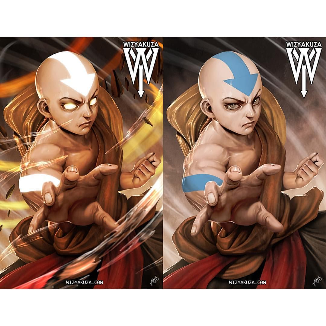 Avatar Aang: Aang / Avatar Transition Piece #avatar #aang #art #artwork