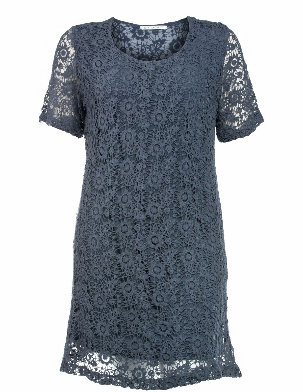 Crocheted cotton dress in Blue designed by Studio to find in Category Dresses at navabi.de