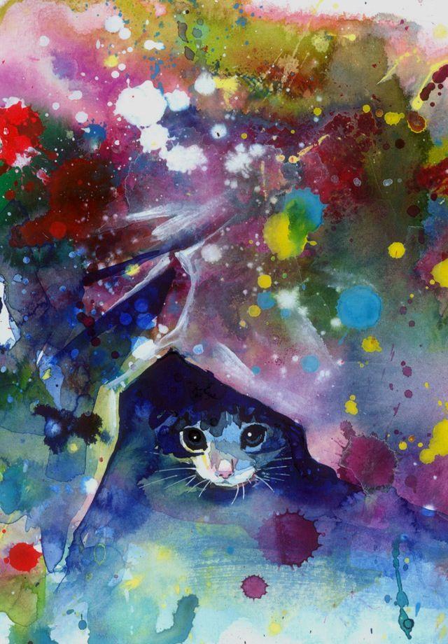 From Lora Zombie On Gelaskins Com Cat Art Lora Zombie Animal Art