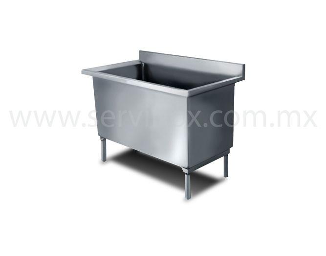 Fregadero para ollas una tarja en acero inoxidable for Ollas para cocina industrial