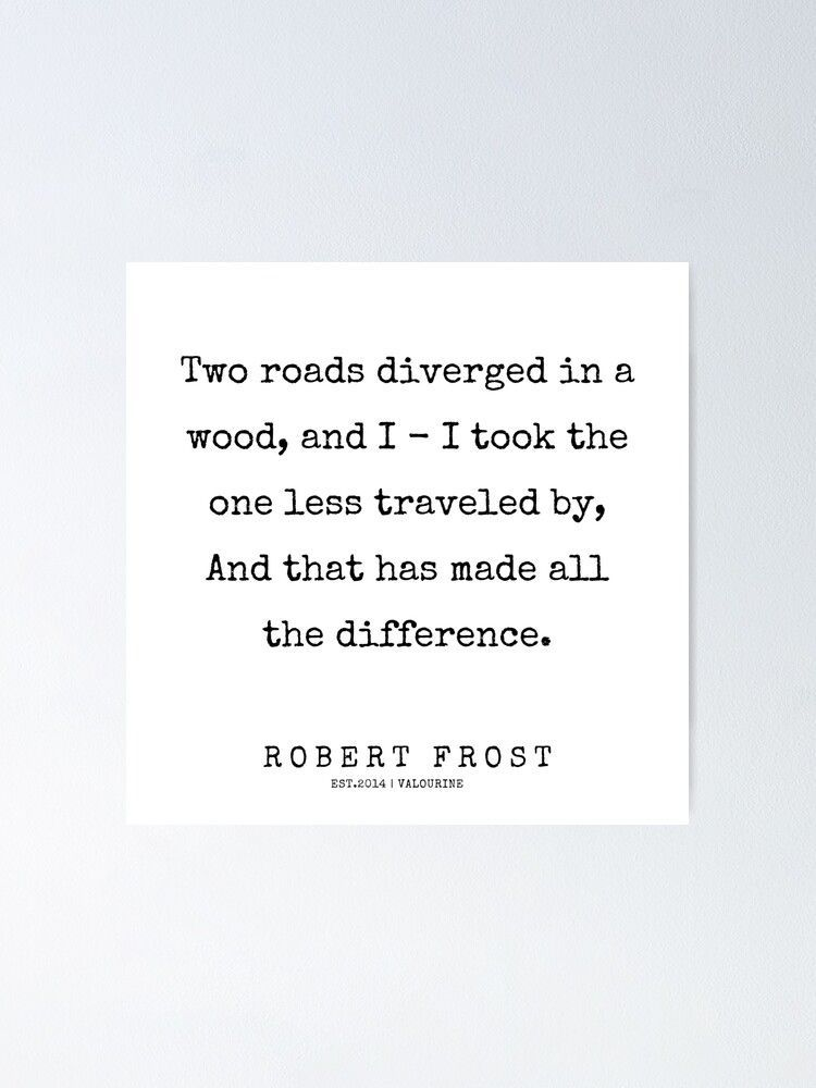 12   | 200213 | Robert Frost Quotes  Poster by QuotesGalore