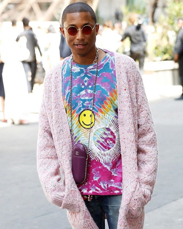 7849868cb  Pharrell defied the rules of couture at the  chanelofficial show in an  oversized cardigan