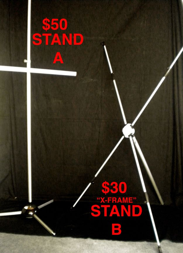 The Blog of Mark Harmon Illustration: How to make a height adjustable X-Frame banner stand for $80
