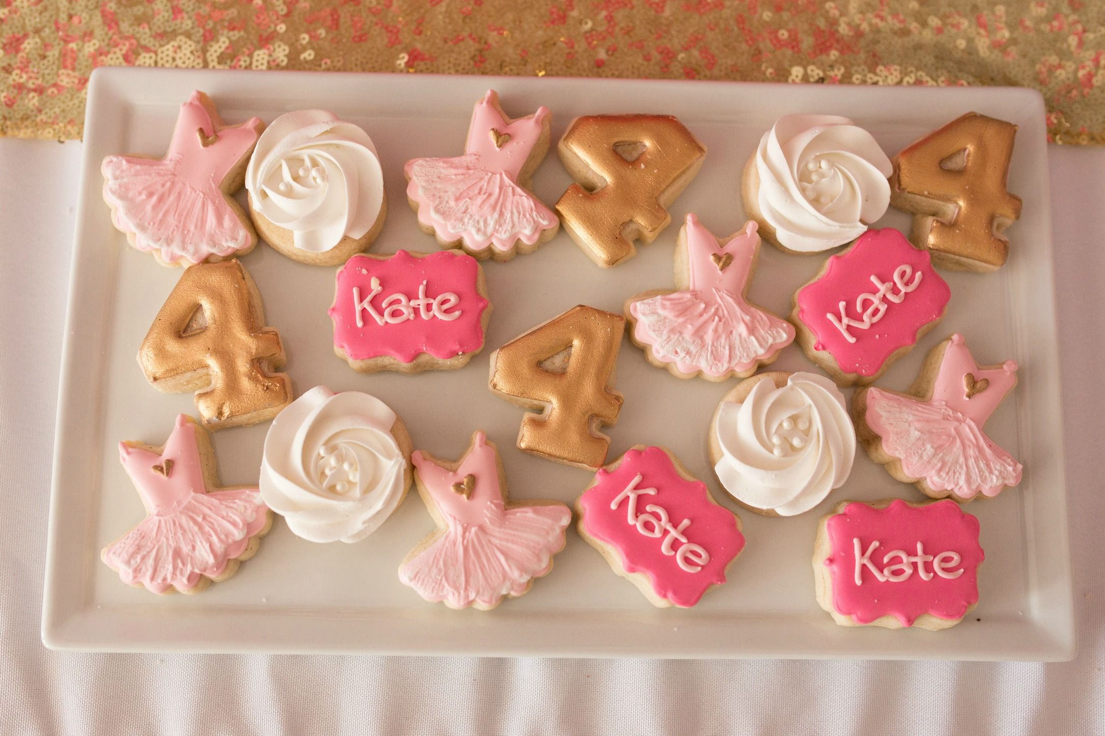 Dance Birthday Party Cookies