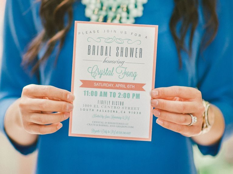Who gets invited to the bridal shower bridal showers etiquette bridal showers invite etiquette qa photo by emily blake photography theknot filmwisefo