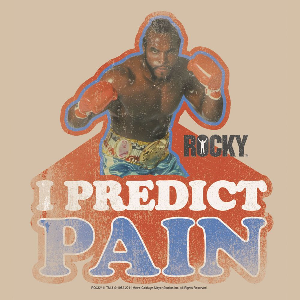 Mr. T Rocky T shirt I predict pain clubber lang retro 80's 70's tee mgm114 #Delta #GraphicTee