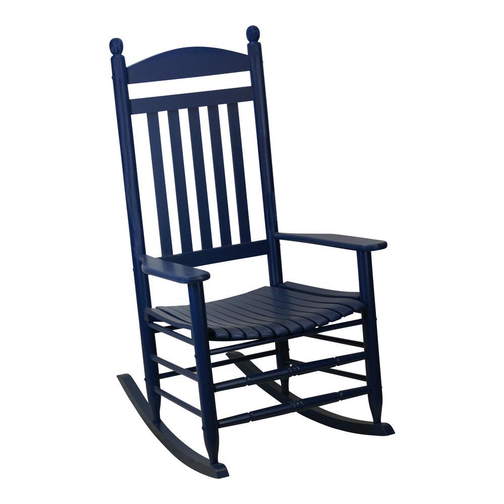 Bradley Slat Midnight Patio Rocking Chair Patio Rocking Chairs