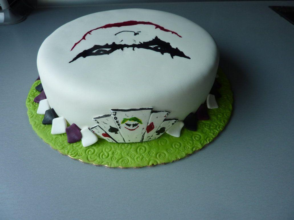 Joker Cake Back By Ana21sof With Images Joker Cake Birthday