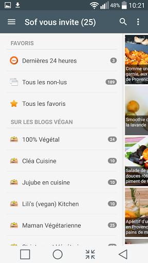 """En panne d'idée pour faire vos recettes végétariennes....<p>""""RECETTES VEGETARIENNES"""" est la pour vous faire découvrir régulièrement de nouvelles recettes végan et végétariennes des meilleurs blogs culinaires Francophones.<p>Des centaines de recettes disponibles et chaques semaines de nouvelles recettes sont proposées par notifications..<p>Restez branché...suivez les blogeurs végétariens et végan en téléchargeant l'appli<p>Caractéristiques de l'application :<p>- Accès j'usqu'a 200 recettes…"""