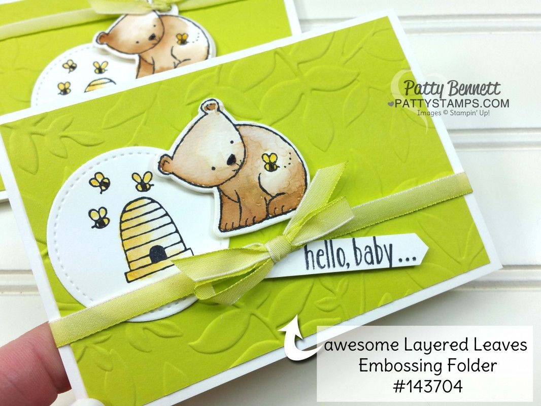 Wild about You Baby Bear card