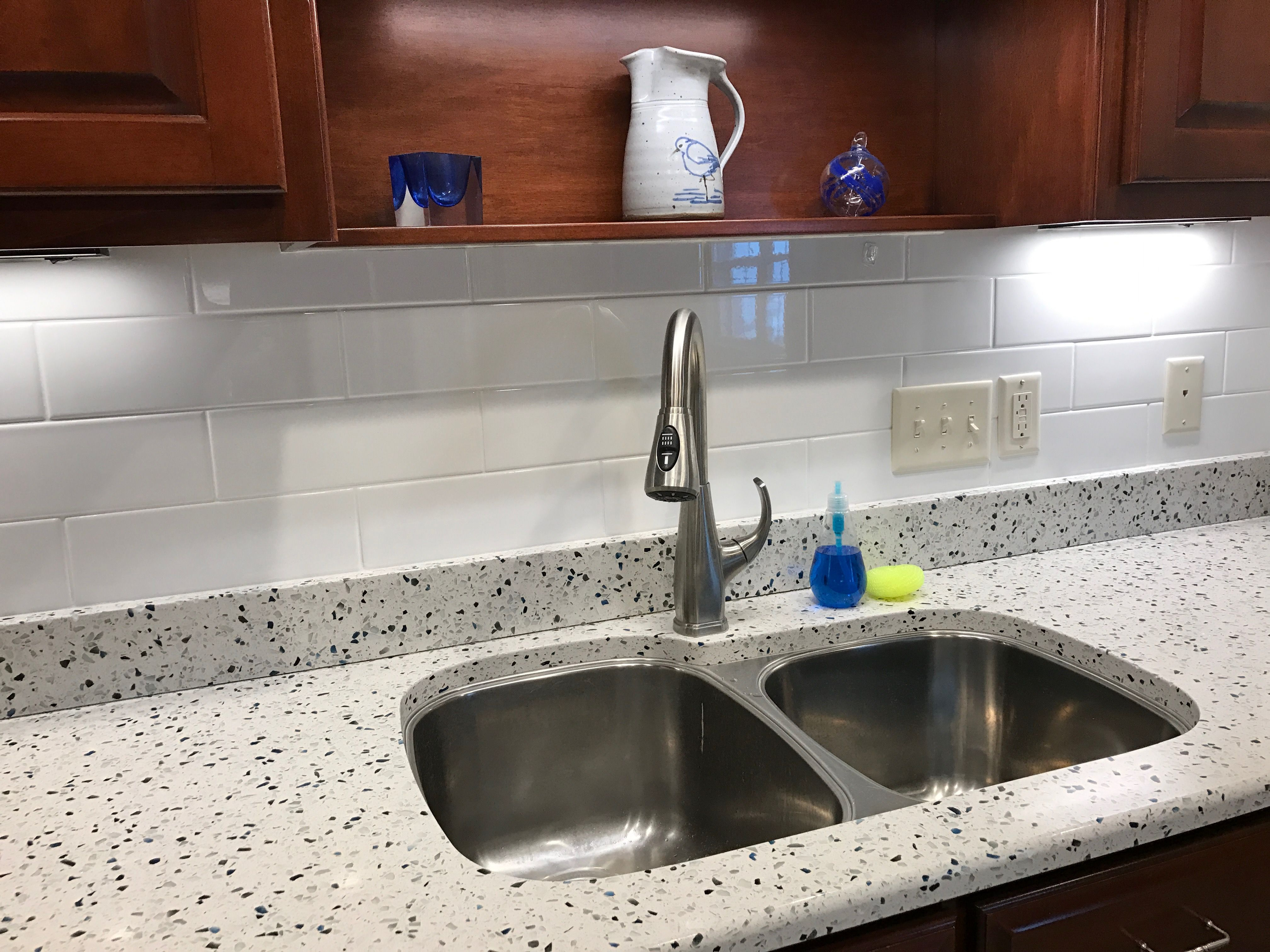 Make Your Kitchen Your Own With Arctic Counters From Curava Recycled Glass Surfaces Recycled Glass Countertops Glass Countertops