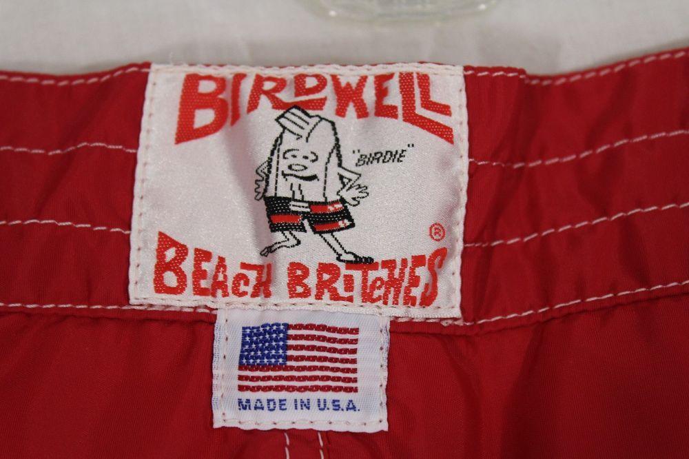 4d3a3365b3 Birdwell Birdie Beach Britches Red Board Shorts Men's 38 USA #Birdwell…