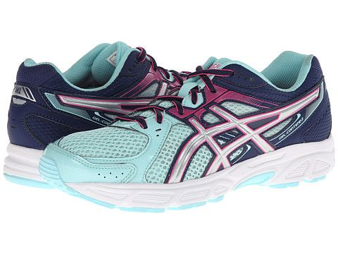 ASICS GEL-Contend™ 2 Ice Blue/Silver/Pink - Zappos.com
