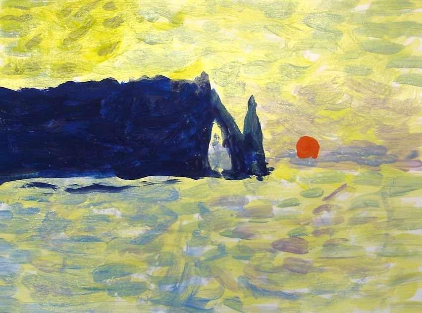 Con gli alunni delle classi terze abbiamo realizzato delle copie a tempera  di quadri di Claude Monet, il g…   Dipinti impressionisti, Dipingere idee,  Impressionismo
