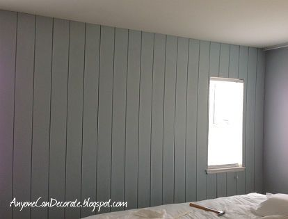 Wood Panel Faux Tongue Groove Look Wall Cost Only 44 Wall Paneling Makeover Paneling Makeover Painting Wood Paneling