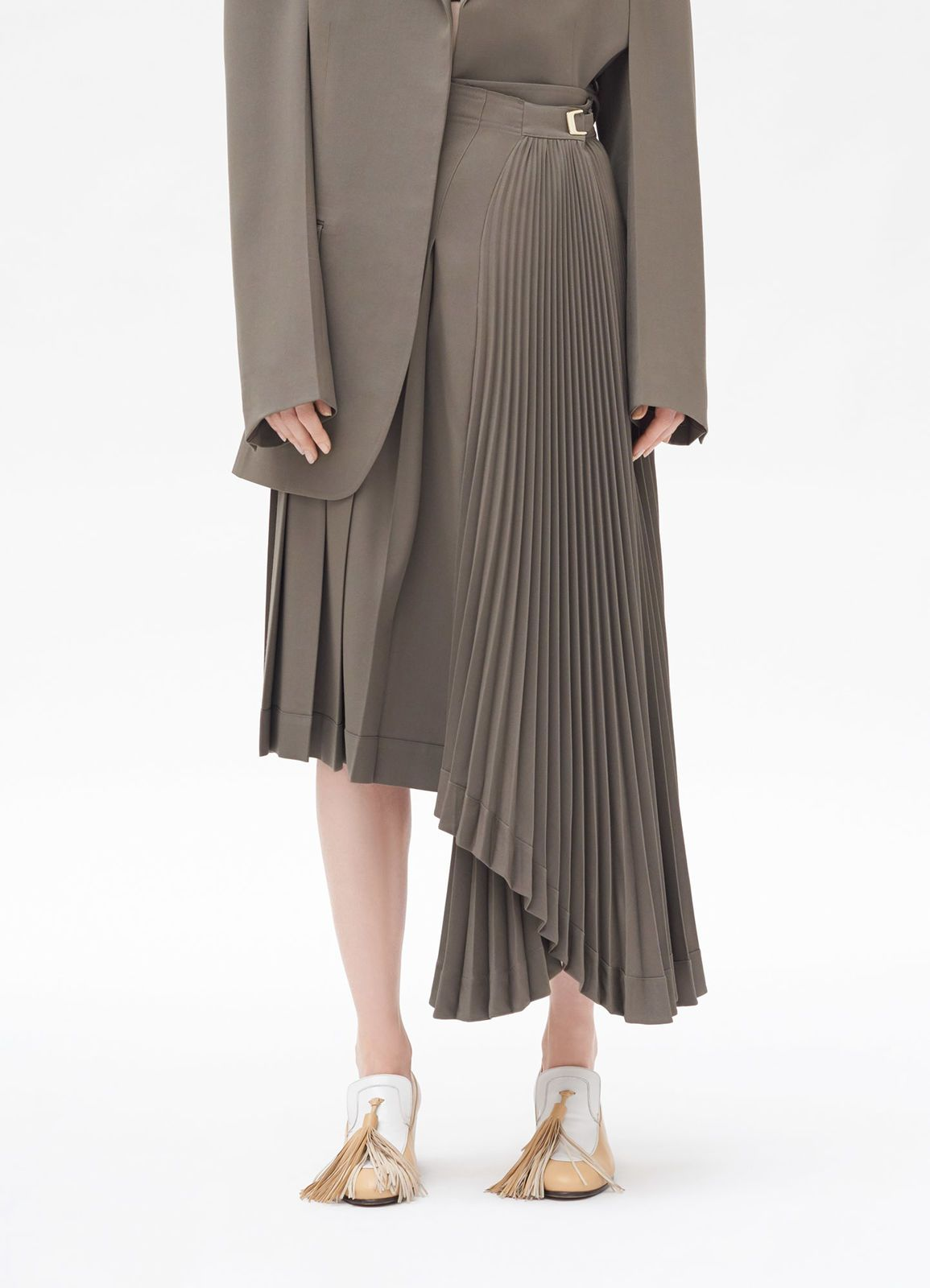 d1c4d80e3 Céline - Asymmetrical pleated skirt in wool gabardine | 裤子 in 2019 ...