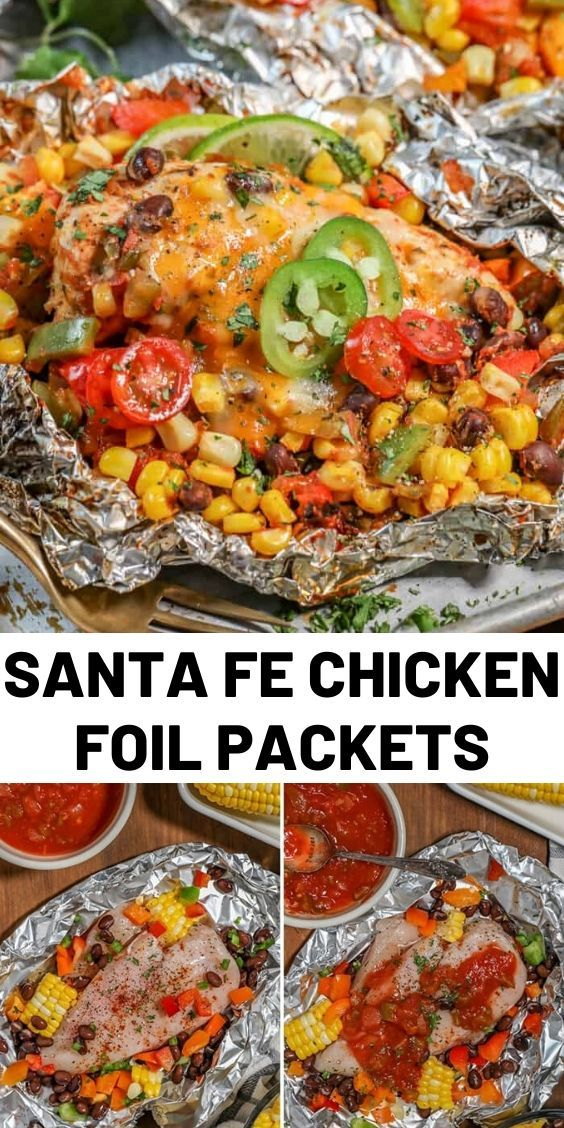 Chicken Foil Packets are the perfect easy, breezy summer grilling meal! With heart-healthy pieces of chicken, some zesty seasonings and a handful of beans and veggies, an entire entrée can be made in no time at all…with no dishes! #chickenrecipes #santafe #dinner #holiday #easyrecipes #grilling #food #cooking