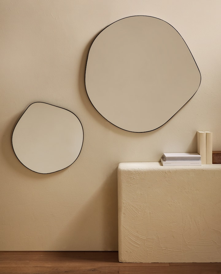 Image Of The Product Large Irregular Mirror Living Room Mirrors Mirror Decor Zara Home