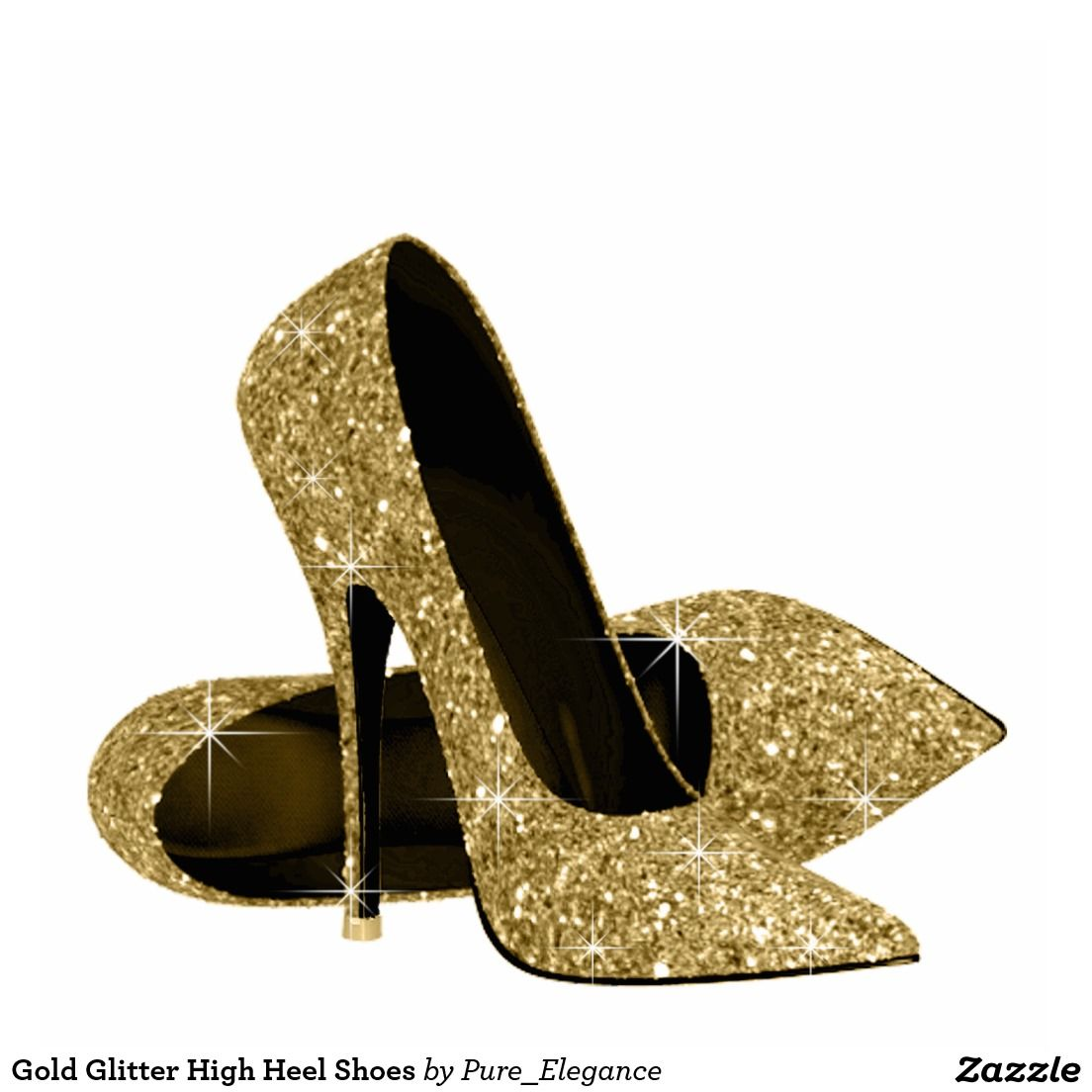 d3913ed173 Gold Glitter High Heel Shoes Cutout | Zazzle.com | 50th | Glitter ...
