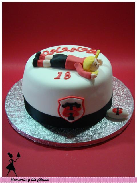 anniversaire stade toulousain 18 ans   gâteaux édition rugby
